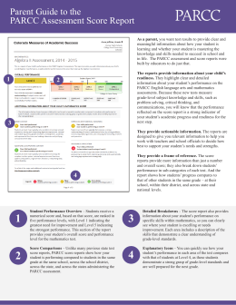 Parent Guide to the PARCC Assessment Score Report