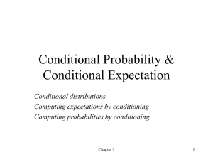 Conditional Probability & Conditional Expectation