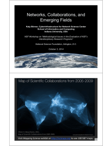 Networks, Collaborations, and Emerging Fields