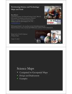 Envisioning Science and Technology: Maps and Tools