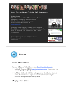 Open Data and Open Code for S&T Assessment