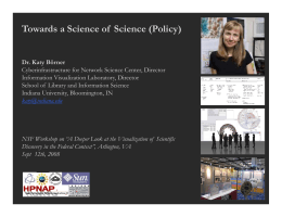 Towards a Science of  Science (Policy)