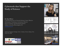 Cybertools that Support the Study of Science
