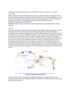 Challenges	and	Opportunities	of	the	UCSD	Map	of	Science‐Library	of	Congress Crosswalk
