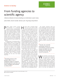 From funding agencies to scientific agency Science & Society