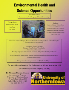 Environmental Health and Science Opportunities