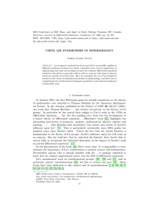 2004 Conference on Diff. Eqns. and Appl. in Math. Biology,... Electronic Journal of Differential Equations, Conference 12, 2005, pp. 87–101.