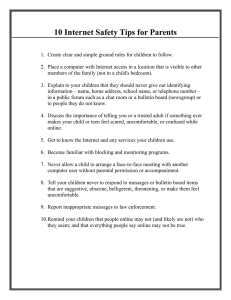 10 Internet Safety Tips for Parents