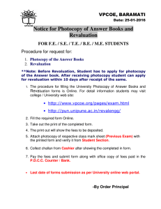 Notice for Photocopy of Answer Books and Revaluation  VPCOE, BARAMATI