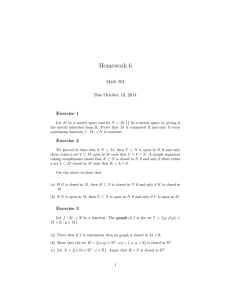 Homework 6 Math 501 Due October 10, 2014 Exercise 1