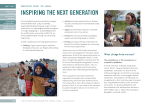 INSPIRING THE NEXT GENERATION RESOURCING OTHERS FOR CHANGE PART THREE