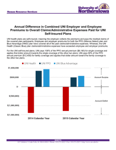 Annual Difference in Combined UNI Employer and Employee