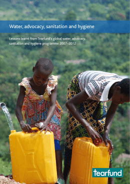 Water, advocacy, sanitation and hygiene sanitation and hygiene programme 2007–2012