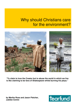 Why should Christians care for the environment?