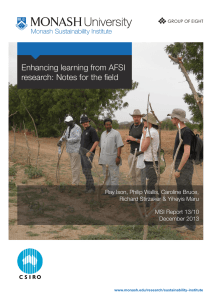 Enhancing learning from AFSI research: Notes for the field