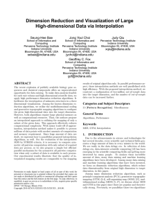 Dimension Reduction and Visualization of Large High-dimensional Data via Interpolation Seung-Hee Bae