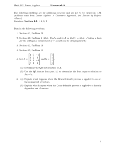 Math 317: Linear Algebra Homework 9