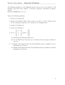Math 317: Linear Algebra Homework 10 Solutions