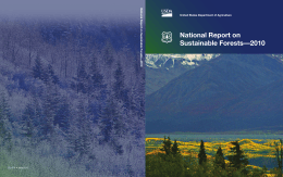 National Report on Sustainable Forests—2010 National Report on Sustainable For ests—2010