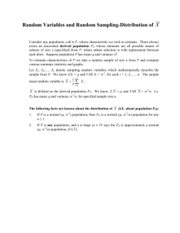 Random Variables and Random Sampling-Distribution of μ σ
