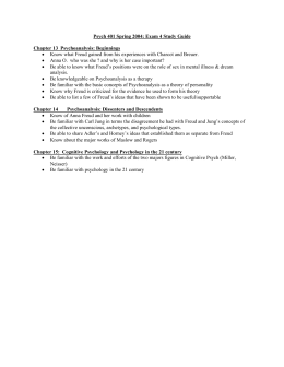Psych 401 Spring 2004: Exam 4 Study Guide