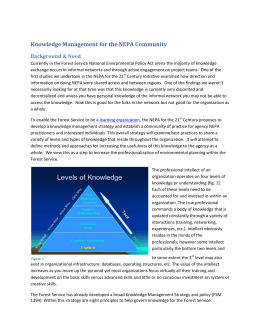 Knowledge Management for the NEPA Community Background & Need