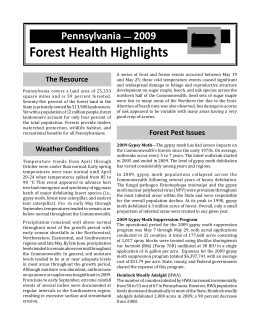Forest Health Highlights Pennsylvania 2009 —