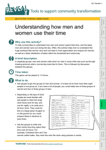 Understanding how men and women use their time Why use this activity?