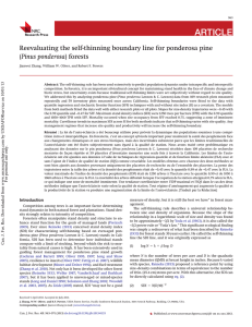 ARTICLE Reevaluating the self-thinning boundary line for ponderosa pine Pinus ponderosa
