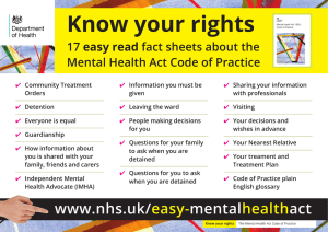 Know your rights easy read fact sheets about the 17
