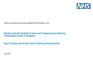 Review into the Quality of Care and Treatment provided by