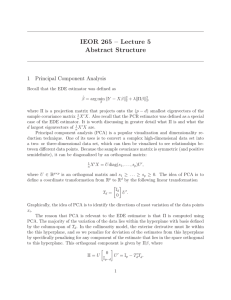 IEOR 265 – Lecture 5 Abstract Structure 1 Principal Component Analysis