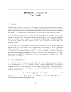 IEOR 265 – Lecture 17 The Oracle 1 Naming