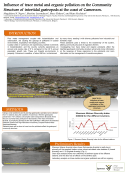 Influence of trace metal and organic pollution on the Community