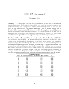 IEOR 165 Discussion 2 February 6, 2015