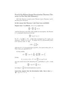 Proof of the Halmos-Savage Factorization Theorem (The-