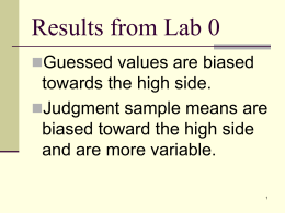 Results from Lab 0