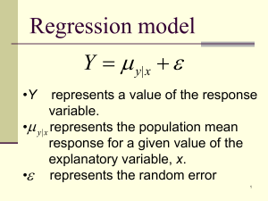   Regression model 