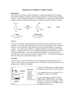 reduction of vanillin to vanillyl alcohol
