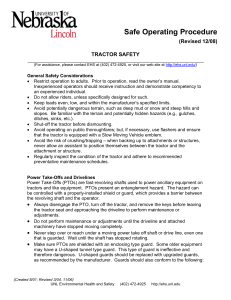 Safe Operating Procedure (Revised 12/08) TRACTOR SAFETY