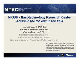 NIOSH - Nanotechnology Research Center
