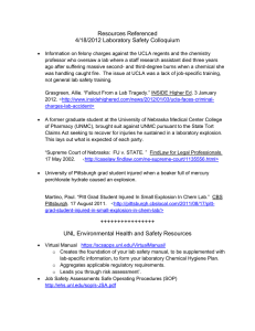 Resources Referenced 4/18/2012 Laboratory Safety Colloquium