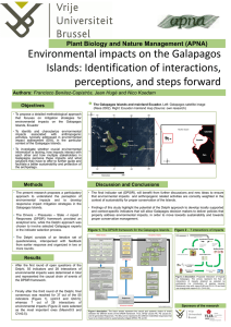 Environmental impacts on the Galapagos Islands: Identification of interactions,