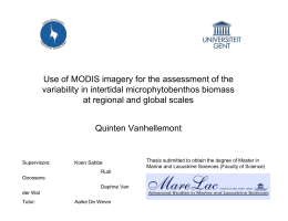 Use of MODIS imagery for the assessment of the