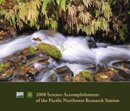 2008 Science Accomplishments of the Pacific Northwest Research Station