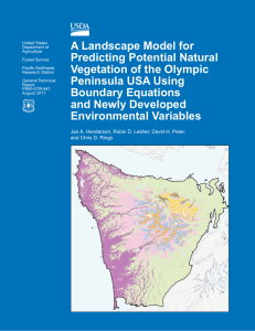 A Landscape Model for Predicting Potential Natural Vegetation of the Olympic