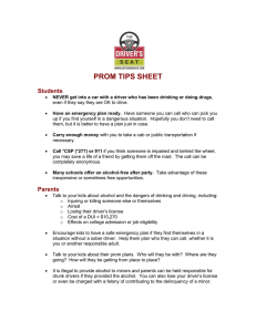 PROM TIPS SHEET Students