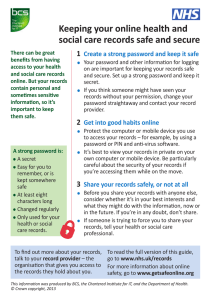 Keeping your online health and social care records safe and secure 1