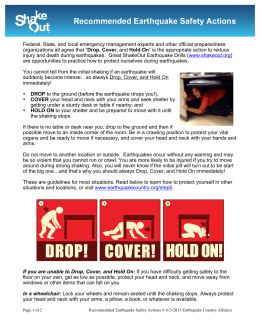 case analysis basic earthquake safety procedure Start studying hesi case study- natural disaster learn vocabulary, terms, and more with flashcards, games, and other study tools.