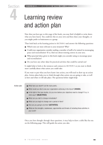 4 Learning review and action plan Section